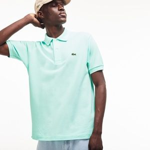 LACOSTE Men's Classic Fit Polo! light green!